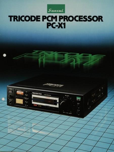 Sansui PC-X 1 Tricode PCM Processor Prospekt / Katalog