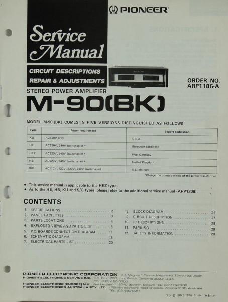 Pioneer M-90 (BK) Schematics / Service Manual