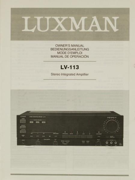 Luxman LV-113 Bedienungsanleitung