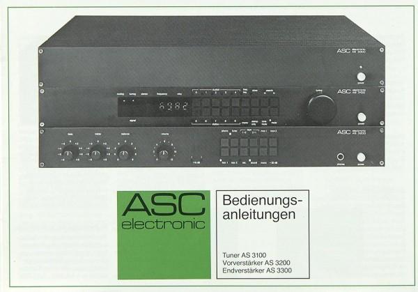 ASC AS 3100 / AS 3200 / AS 3300 Bedienungsanleitung