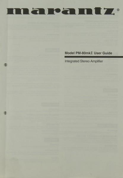 Marantz Model PM-80 mk II Bedienungsanleitung