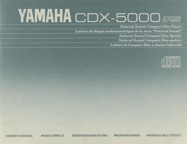 Yamaha CDX-5000 RS Bedienungsanleitung