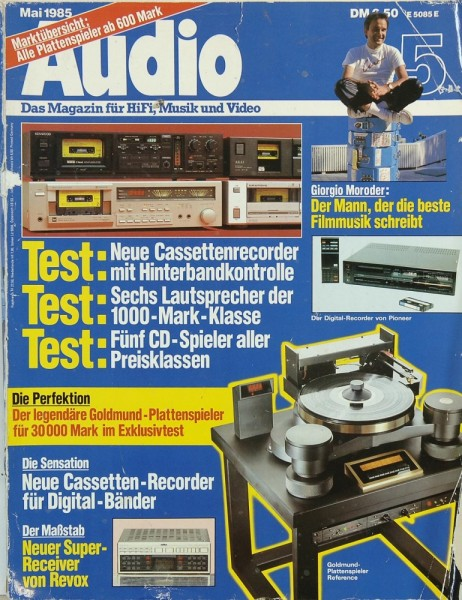 Audio 5/1985 Zeitschrift
