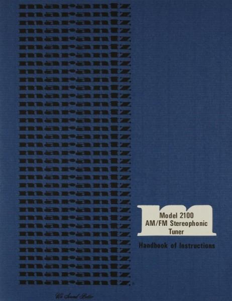 Marantz Model 2100 Bedienungsanleitung