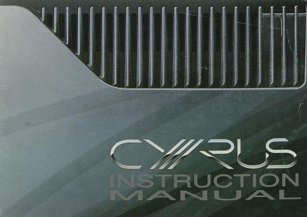 Mission / Cyrus III Amplifier Bedienungsanleitung