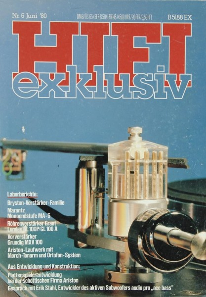 Hifi Exklusiv 6/1980 Zeitschrift