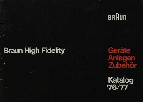 Braun Katalog ´76/77 Prospekt / Katalog