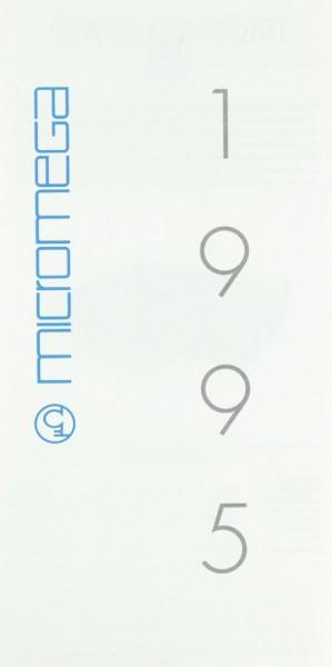 Micromega Lieferübersicht 1995 Prospekt / Katalog