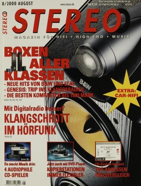 Stereo 8/2000 Zeitschrift