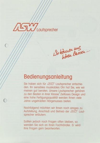 ASW Lautsprecher Bedienungsanleitung