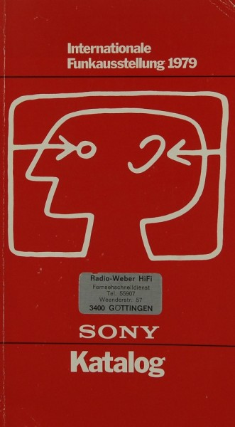 Sony Katalog - Internationale Funkausstellung 1979 Prospekt / Katalog