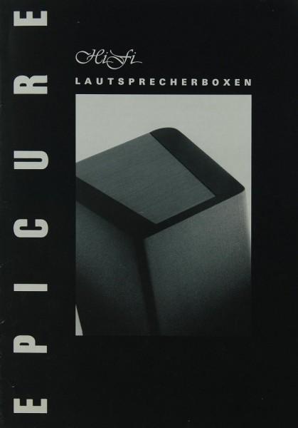 Epicure HiFi Lautsprecherboxen Prospekt / Katalog
