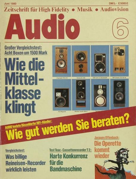 Audio 6/1980 Zeitschrift