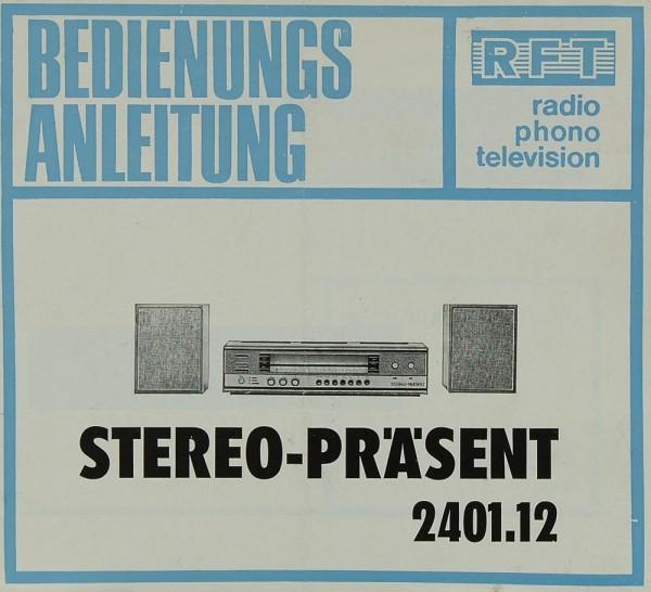 RFT Stereo-Präsent (2401.12) Bedienungsanleitung