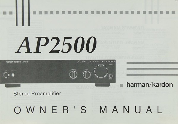 Harman / Kardon AP 2500 Bedienungsanleitung