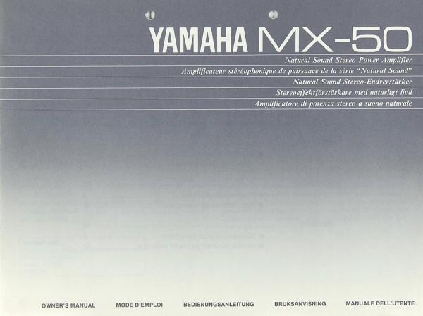 Yamaha MX-50 Bedienungsanleitung