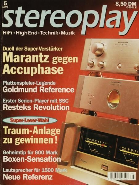 Stereoplay 5/1996 Zeitschrift