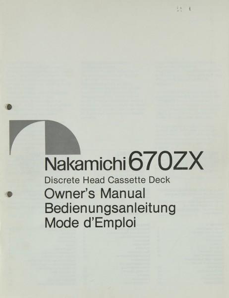 Nakamichi 670 ZX Bedienungsanleitung