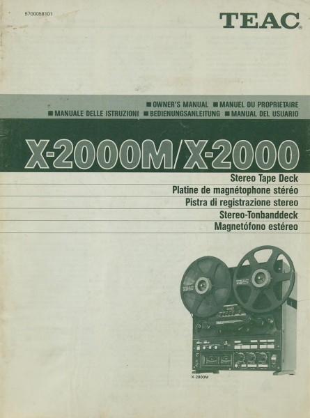 Teac X-2000 M / X-2000 Bedienungsanleitung