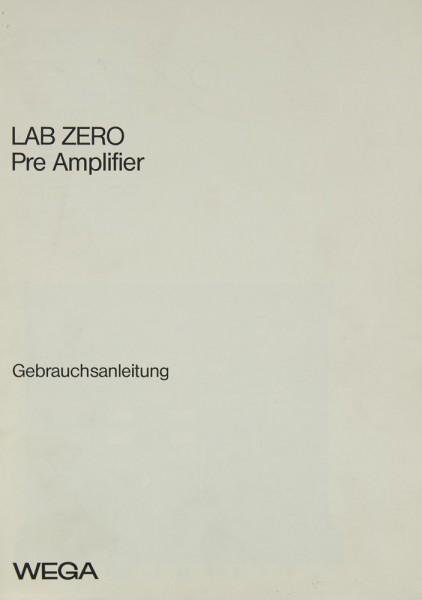 Wega Lab Zero Bedienungsanleitung