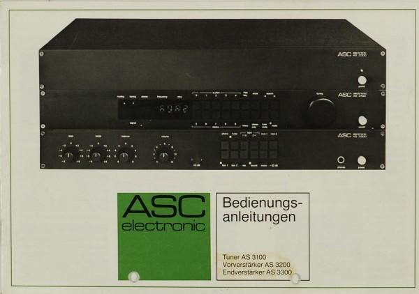 ASC AS 3100 Bedienungsanleitung