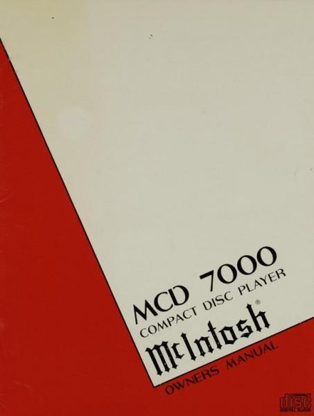 McIntosh MCD 7000 Bedienungsanleitung