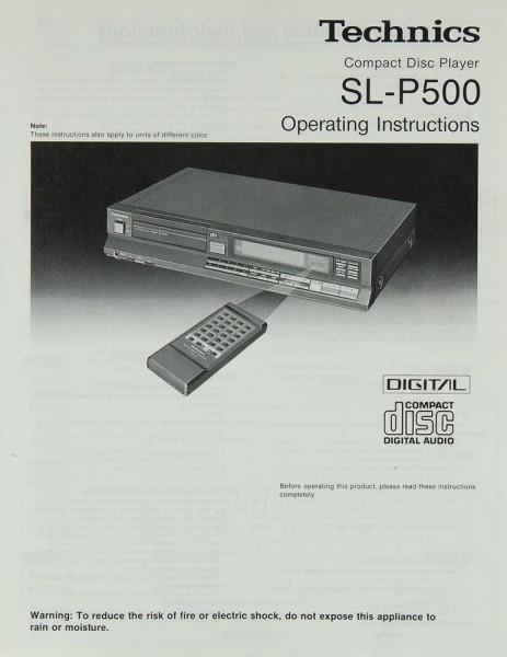 Technics SL-P 500 Bedienungsanleitung