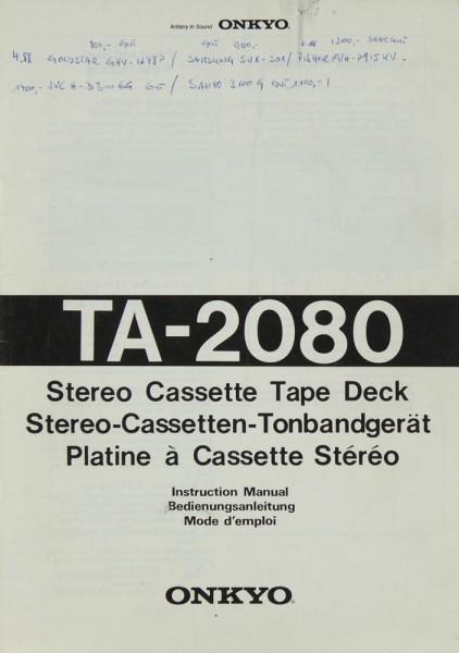 Onkyo TA-2080 Bedienungsanleitung