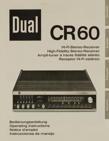 Dual CR60 Bedienungsanleitung
