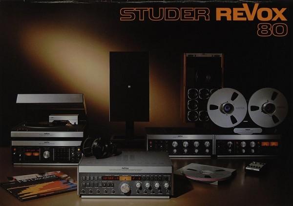 Revox Studer Revox 80 Prospekt / Katalog