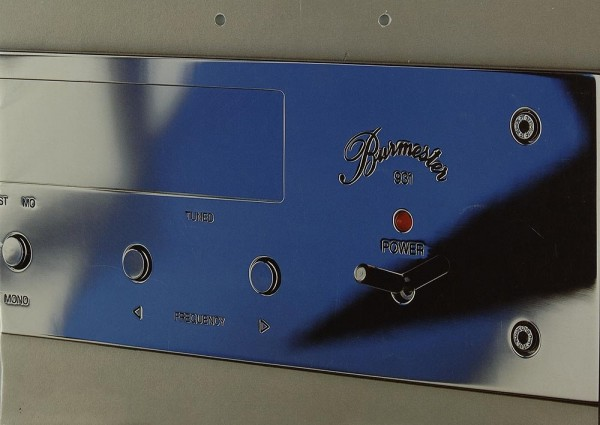 Burmester 900er Serie Prospekt / Katalog