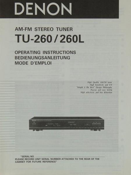 Denon TU-260 / 260 L Bedienungsanleitung