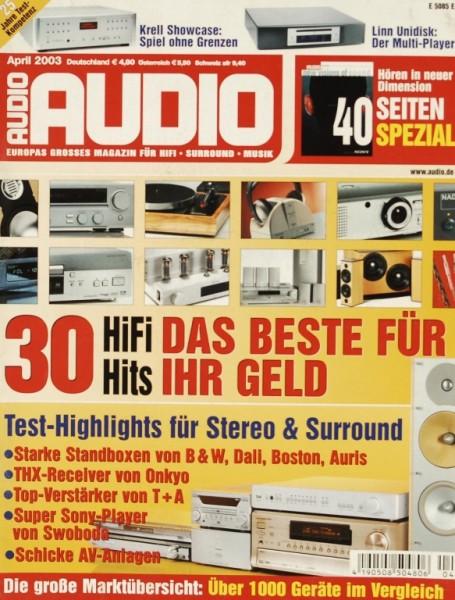 Audio 4/2003 Zeitschrift