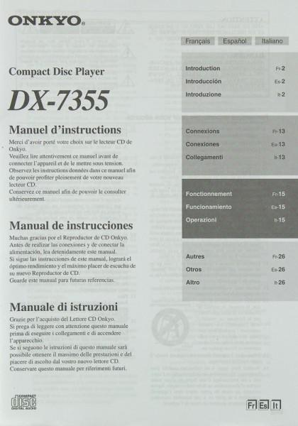 Onkyo DX-7355 Bedienungsanleitung