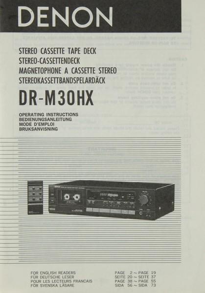 Denon DR-M 30 HX Bedienungsanleitung