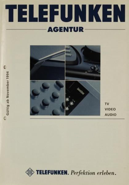 Telefunken Telefunken Agentur - Perfektion erleben. Nov. 1994 Prospekt / Katalog