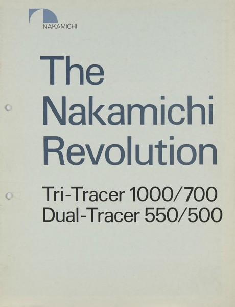 Nakamichi Tri-Tracer 1000/700 / Dual Tracer 550/500 Prospekt / Katalog