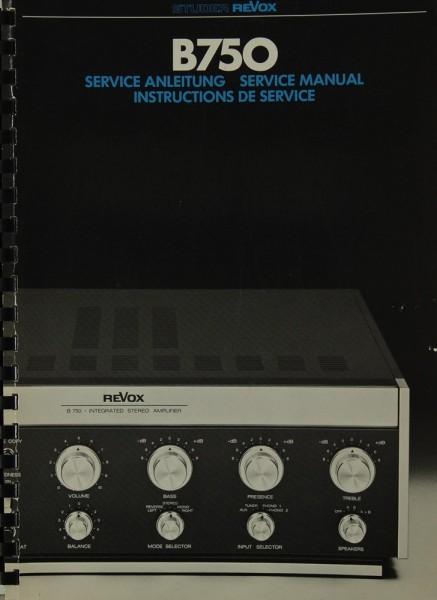 Revox B 750 Schaltplan / Serviceunterlagen