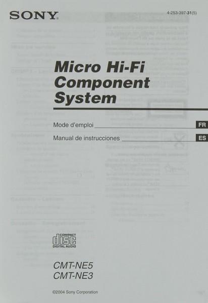Sony CMT-NE 5 / CMT-NE 3 Bedienungsanleitung