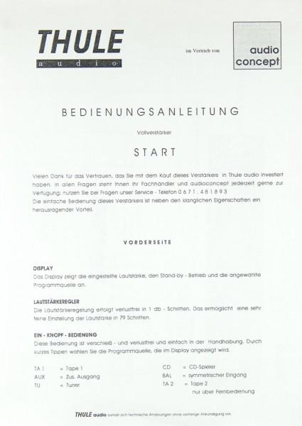 Thule Start Bedienungsanleitung