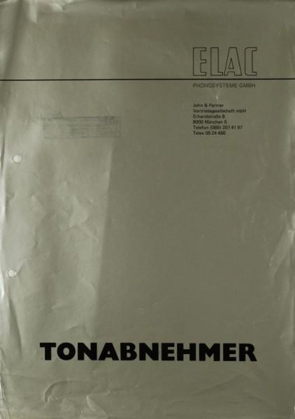 Elac Tonabnehmer Prospekt / Katalog