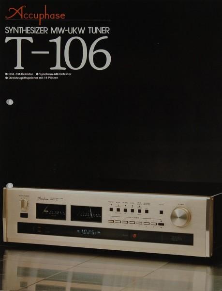 Accuphase T-106 Prospekt / Katalog