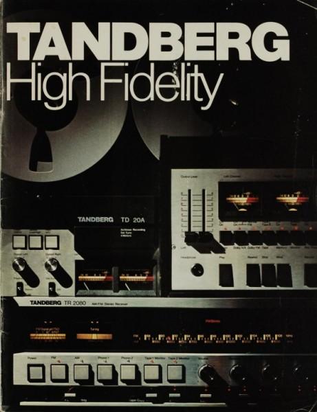 Tandberg High Fidelity Prospekt / Katalog