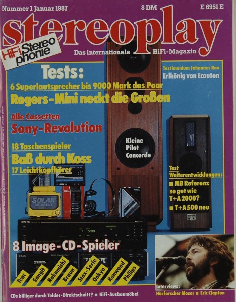 Stereoplay 1/1987 Zeitschrift