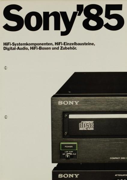 Sony Sony ´85 - HiFi-Systemkomponenten, Bausteine, etc. Prospekt / Katalog