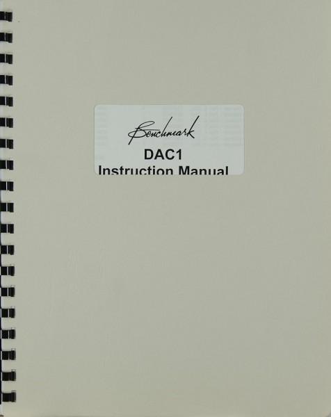 Benchmark DAC 1 Bedienungsanleitung