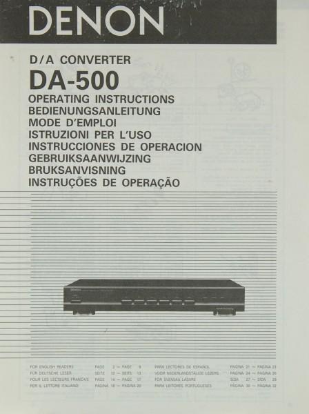 Denon DA-500 Bedienungsanleitung