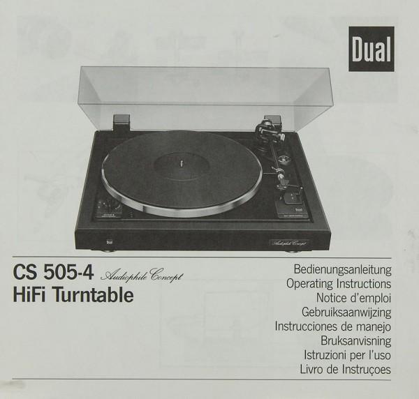 Dual CS 505-4 Bedienungsanleitung