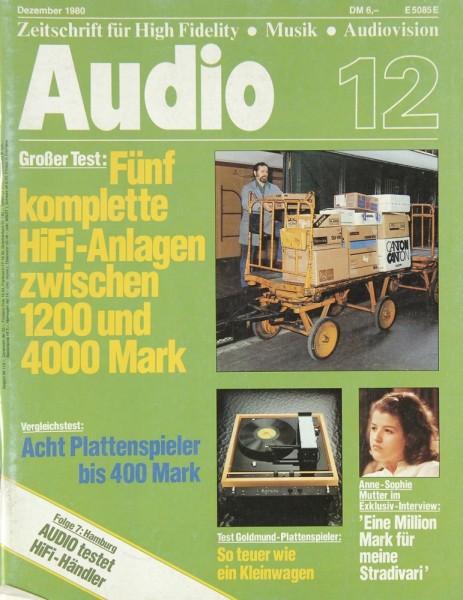 Audio 12/1980 Zeitschrift