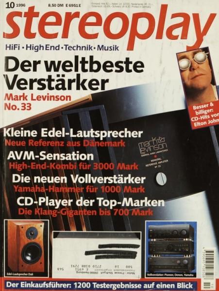 Stereoplay 10/1996 Zeitschrift